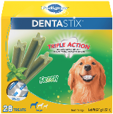 package of Pedigree Dentastix Fresh dog treats for large dogs