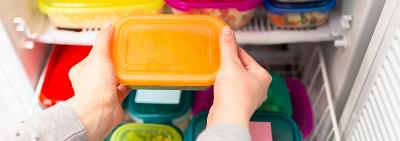 orange plastic food container