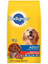 PEDIGREE® Adult Grilled Steak & Vegetable Flavor dog food front package shot