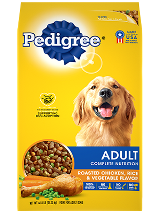 PEDIGREE® Adult Roasted Chicken, Rice, & Vegetable Flavor dog food front package shot